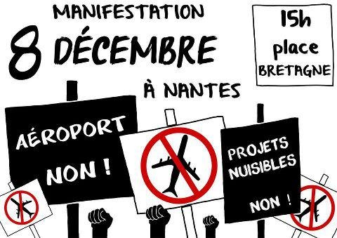 aéroport,nantes,bretagne,manifestation